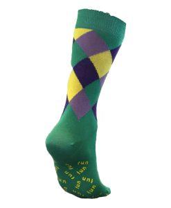 Harlequin Gestreifte Socken – komplettiert den Pyjama Look
