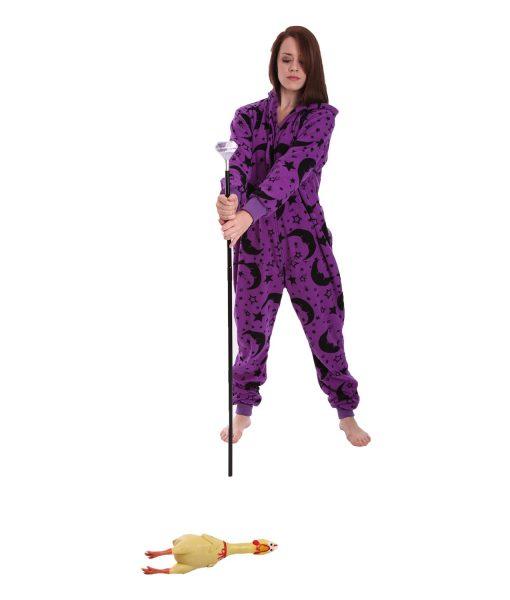 Wizard Erwachsenenstrampler ohne Füße