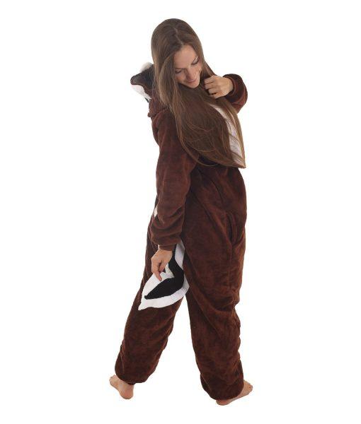 Chipmunk Tierkostüm - Streifenhörnchen Erwachsenenstrampler