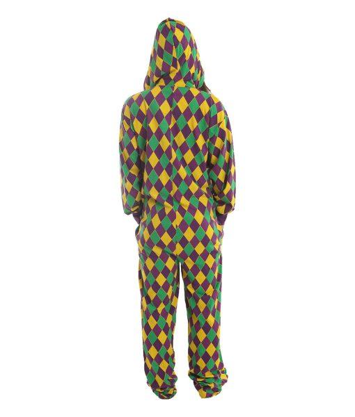 Harlekin Ganzkörperschlafanzug mit Füssen