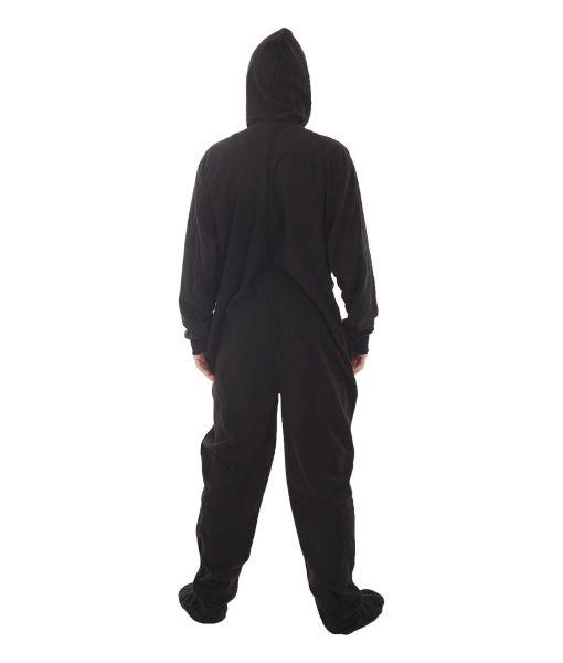 Jet Black Erwachsenenstrampler mit Füßen - warm und trotzdem cool
