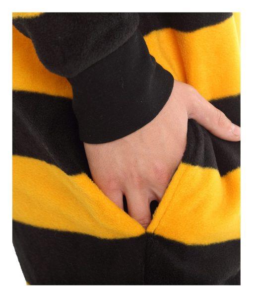 Bumble Erwachsenentrampler im Hummeldesign mit Füssen